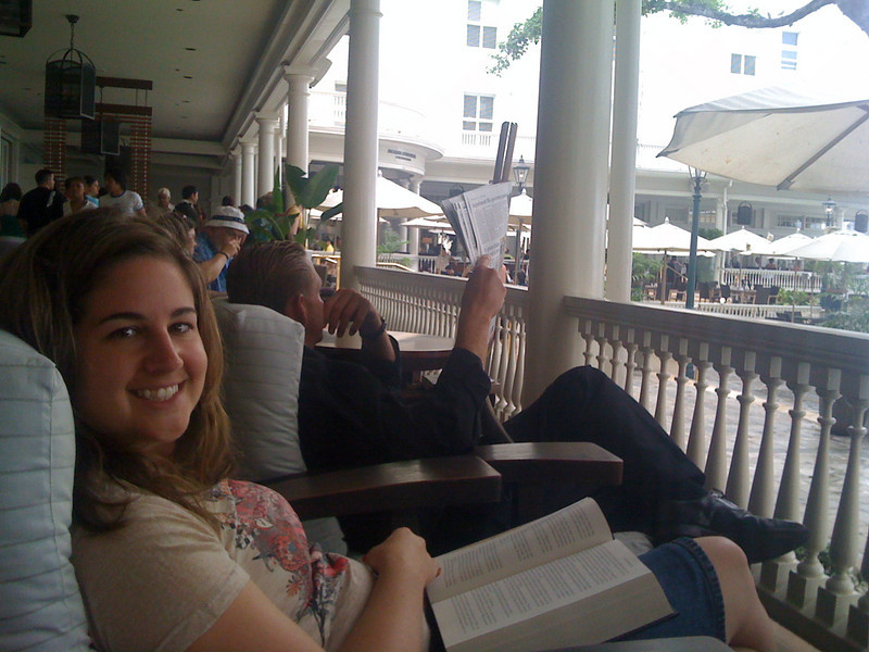 Maxin' relaxin' at the Moana Surfrider.