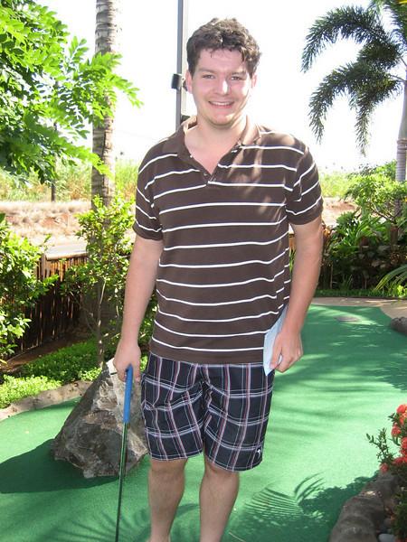 Mini-golfing on Maui.