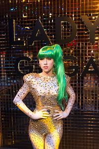 Lad GaGa at the wax museum. Madame Tussauds Hong Kong, part of the renowned chain of wax museums founded by Marie Tussaud of France, is located at the Peak Tower on Hong Kong Island in Hong Kong.