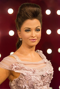 Aishwarya Rai Bachchan. Indian Bollywood stars. Madame Tussauds Hong Kong, part of the renowned chain of wax museums founded by Marie Tussaud of France, is located at the Peak Tower on Hong Kong Island in Hong Kong.
