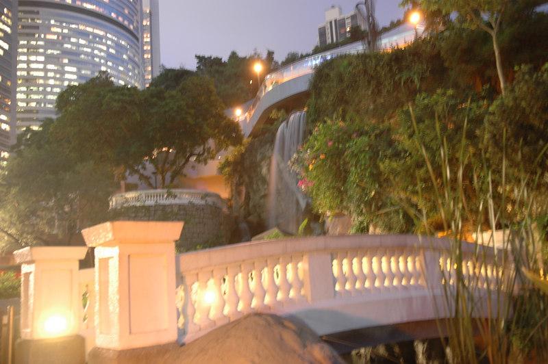 Waterfall at Hong Kong Park