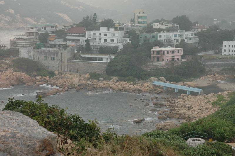 Shek O view, blue bridge