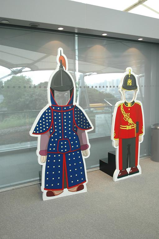 Chinese and British Army Uniform, Coastal Defense Museum