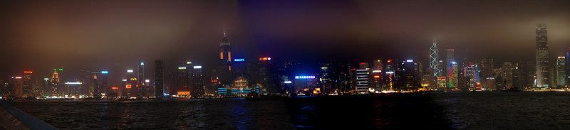 Panorama View of Hong Kong Island from Tsimshatsui