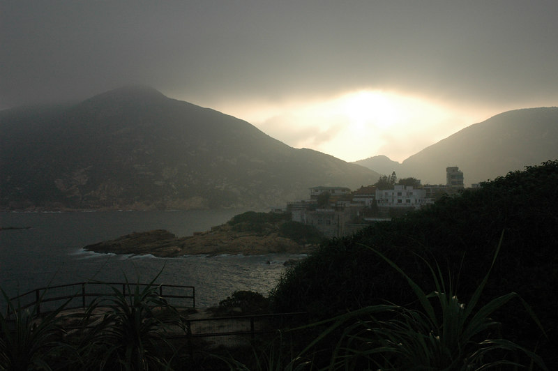 Shek O view, cloudy skies