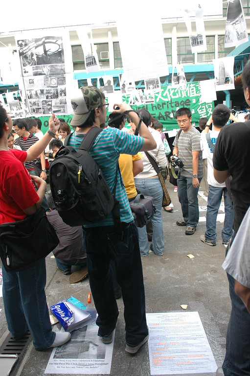 Protest against demolition of the Star Ferry Terminal