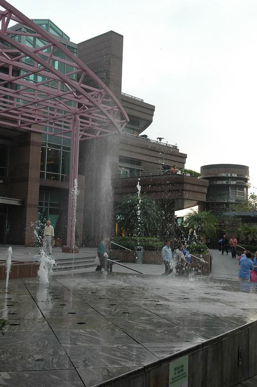 Fountain outside Peak Mall