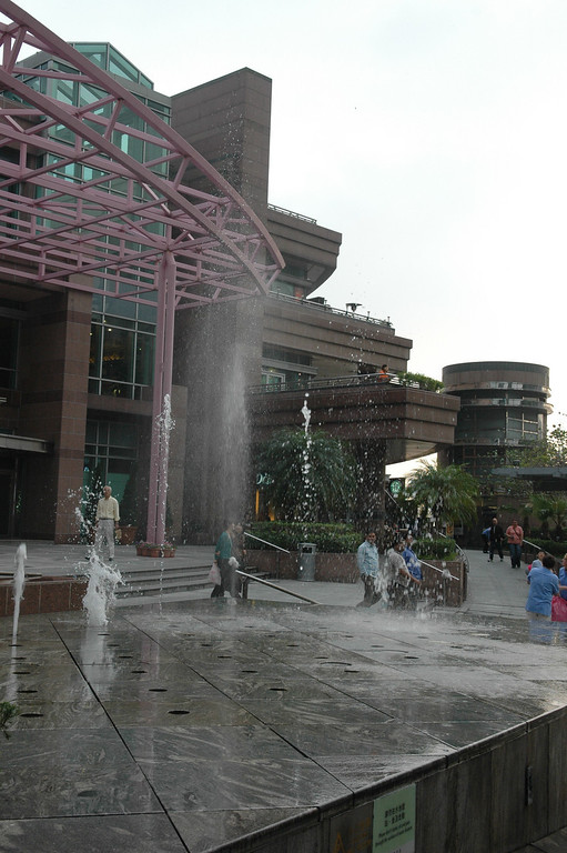 Fountain outside Peak Mall