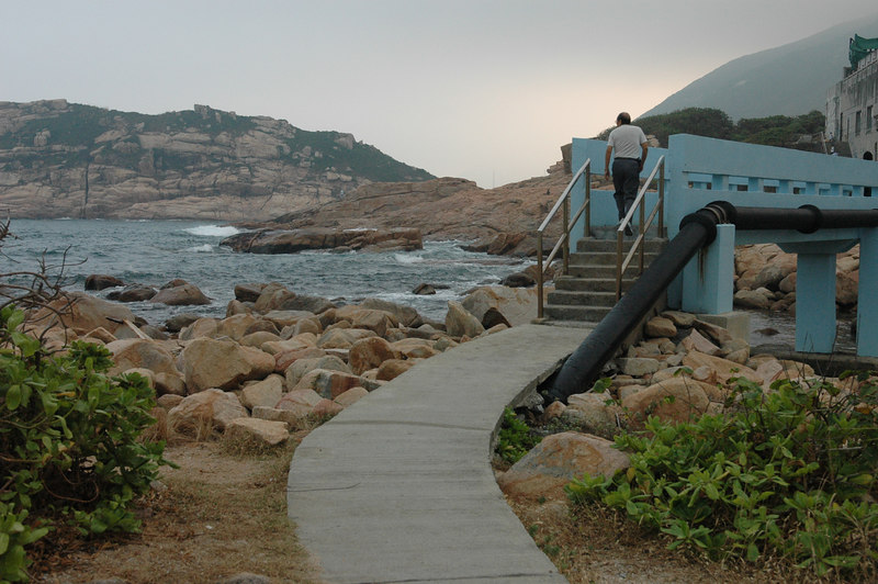 Shek O blue bridge