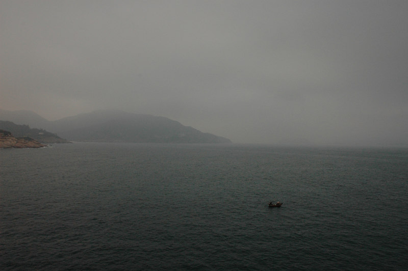 Shek O view and fishing boat