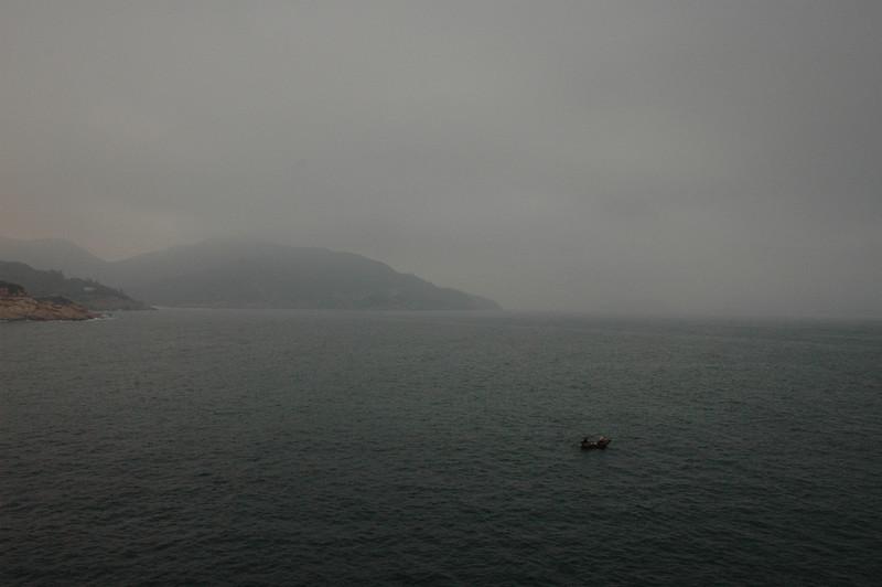 Shek O view and fishing boat