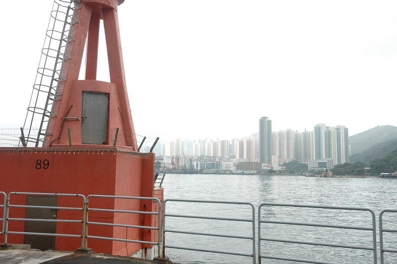 Outside Coastal Defense Museum, both side of Lei Yue Mun