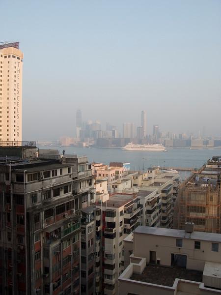 Kowloon View from Park Lane Hotel, Causeway Bay Hong Kong