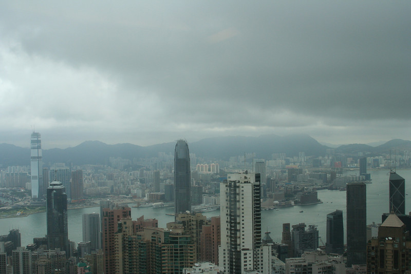 View of the storm from the peak.