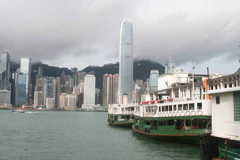 Star Ferry boats, Kowloon side.