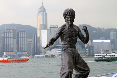 Bruce Lee statue, Avenue of Stars, Hong Kong waterfront.
