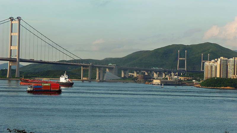 Lantau Link and ships