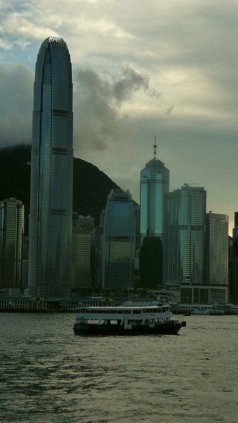 The International Finance Centre Building 2 (or '2 IFC') viewed from Kowloon