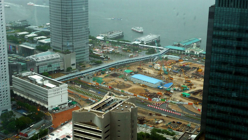 Most of the land seen in this picture has been reclaimed from Victoria Harbour in the last 20 years
