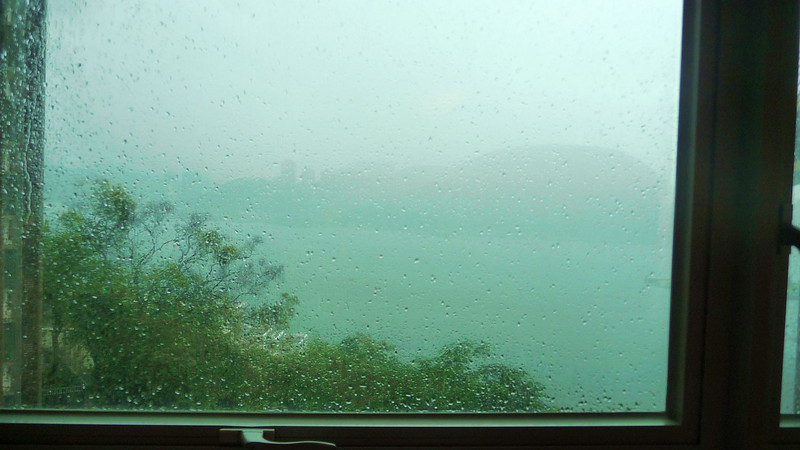 Final View (or not) from Room 1067 at the Roual View - Hong Kong rain - time to head for the airport!