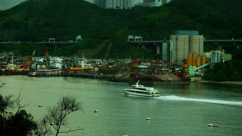 On the Rammbler Channel, between Tsing Yi island and the mainland, is a busy shipyard which was closely associated with the Hong Kong & Yaumatai Ferry Company
