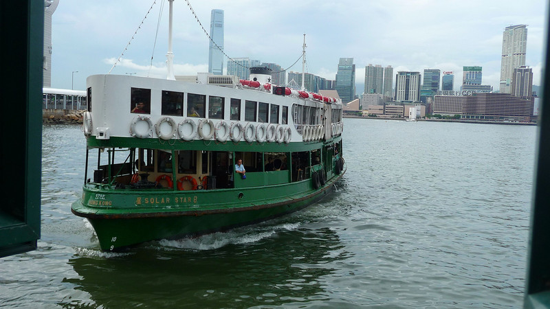 Solar Ferry arriving at Wanchai