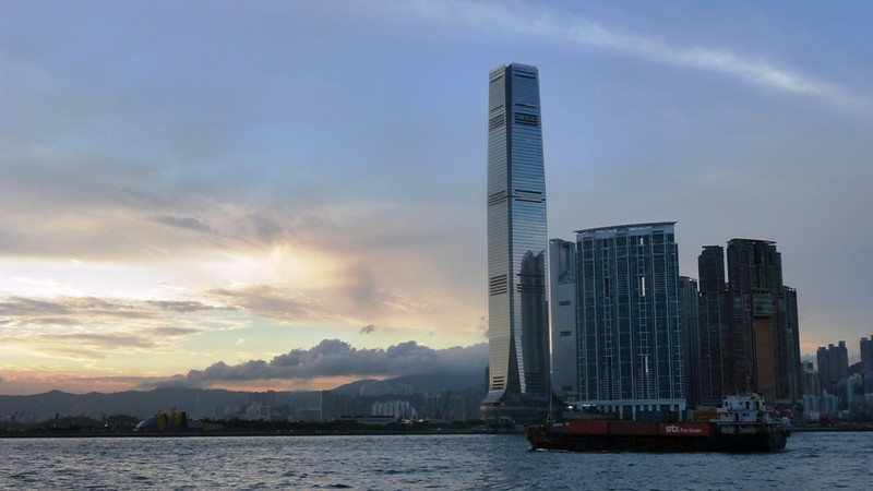 View of the new International Commerce Center in Kowloon