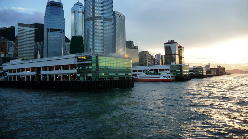 Ferry piers at the Central District of Hong Kong island