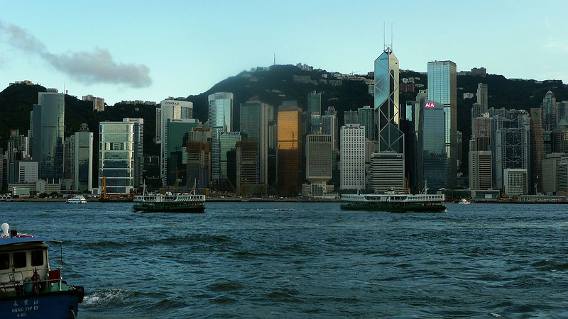Looking across to the Central District of Hong Kong Island from Tsim Sha Tsui