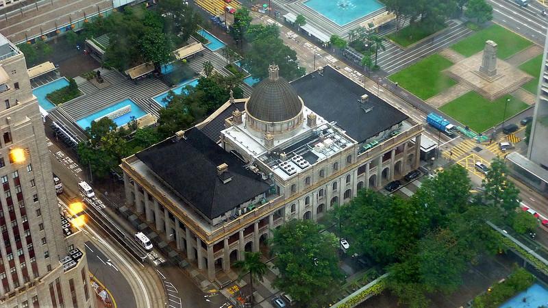 Former Hong Kong Supreme Court building and the Hong Kong Cenotaph