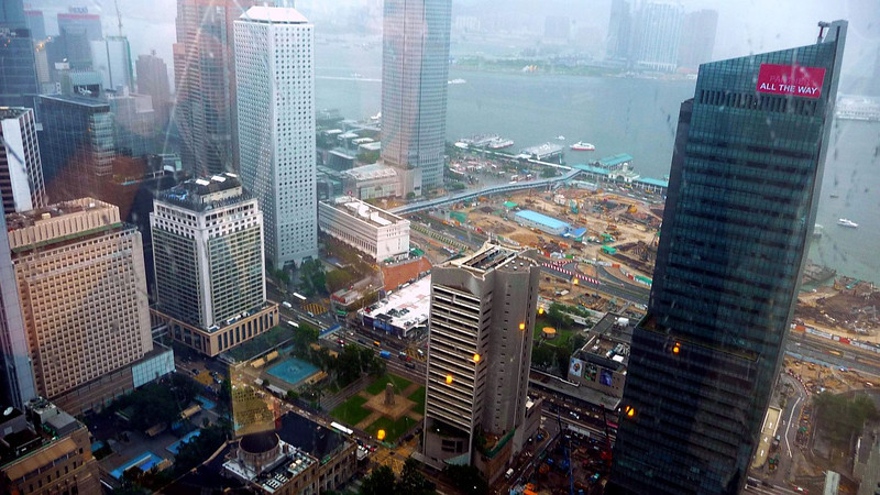View from 43rd floor of the 70 storey Bank of China