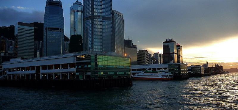 Ferry piers at Central on Hong Kong island