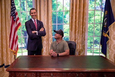 Gilbert with President Obama