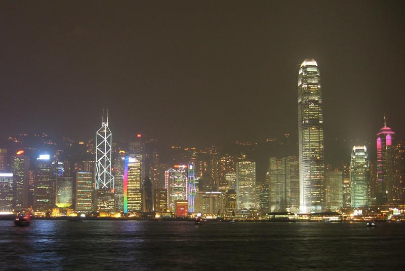 Cropped view of Hong Kong Island