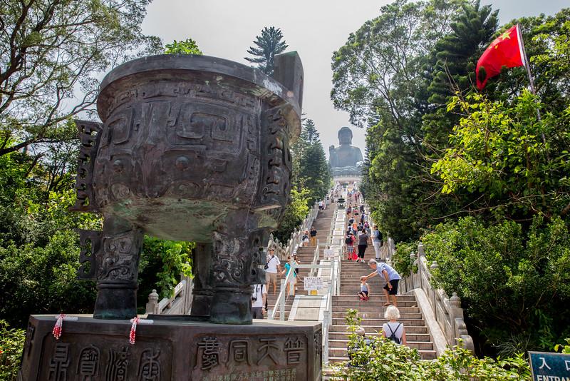 Lantau Buddha staircase