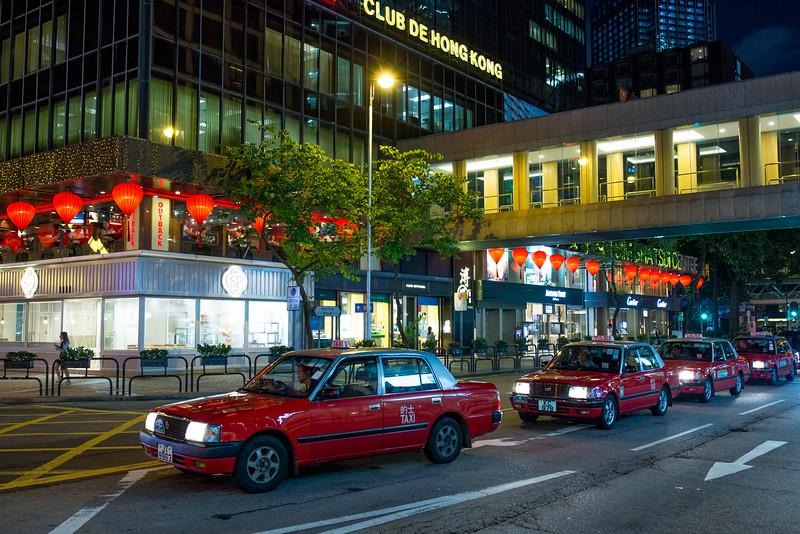 Hong Kong taxis nights
