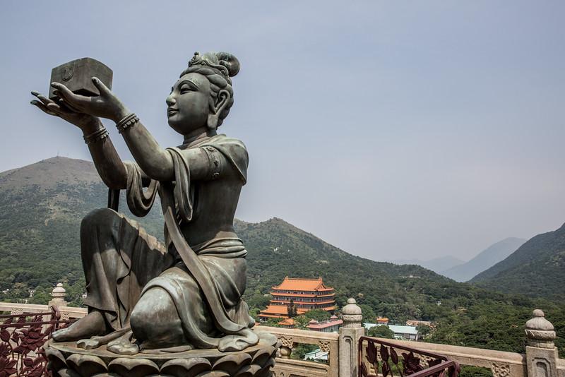 Lantau Buddha view Lin Po