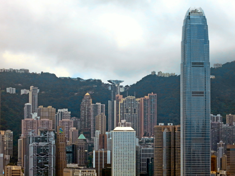 Victoria Peak Tower and Two International Finance Centre