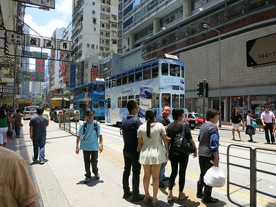 HK's double-deck trams