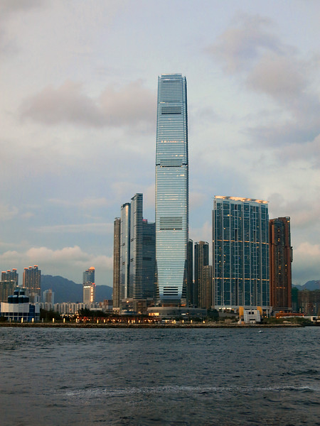 International Commerce Centre, West Kowloon. Tallest building in Hong Kong, 1,588 feet, 118 floors