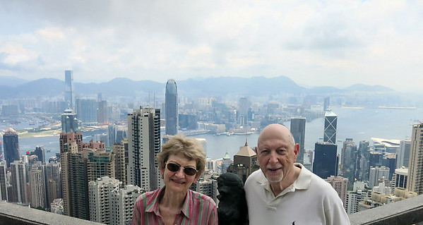 M and N at Victoria Peak overlook