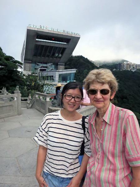 Guide Melanie Ko, Marian, and Victoria Peak Tower