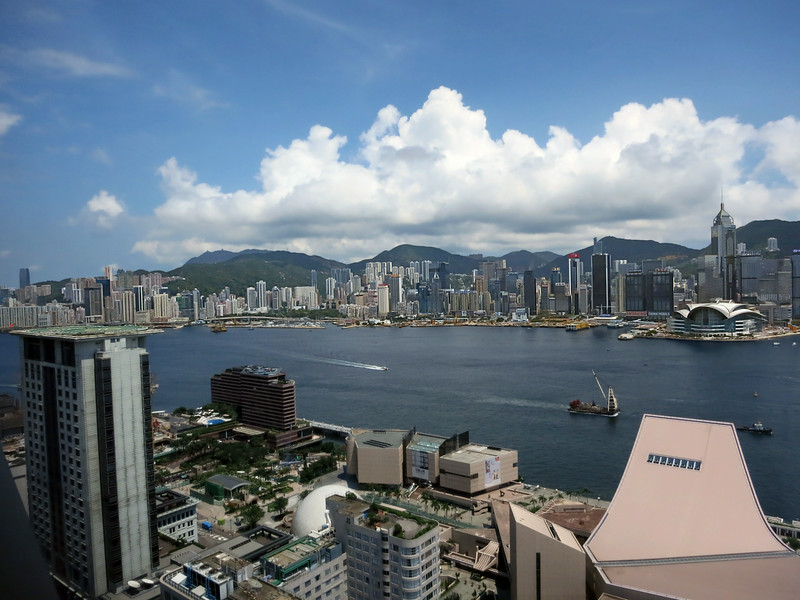 HK skyline from Hutong Restaurant, above HK Cultural Centre in Kowloon