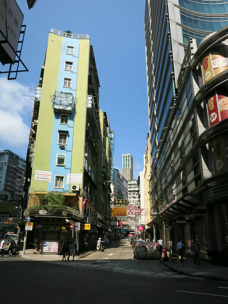 A side street in Kowloon