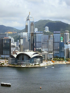 HK Convention and Business Centre, Wan Chai; and Central Plaza, 1227 feet, 78 floors.