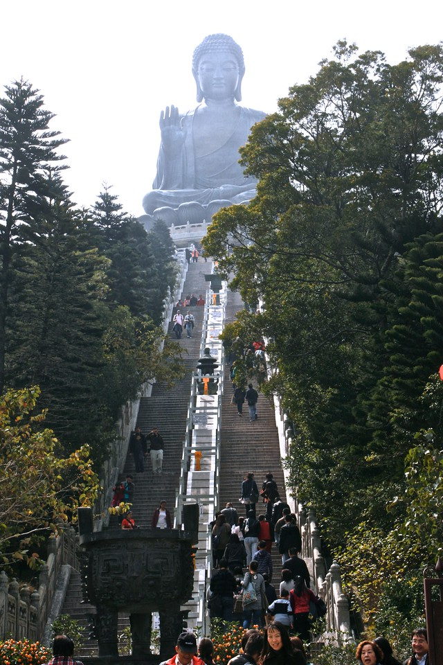 There are 260 steps to get up to the Great Buddha.