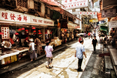 Sheung Wan district marketr on HK island