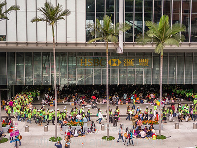 Hong Kong. Demonstration for a Filipino political candidate