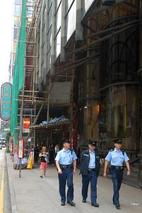 Hong Kong police officers.