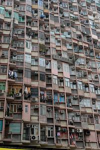 Hong Kong apartment building.